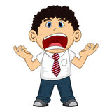 An employee screaming cartoon Stock Image