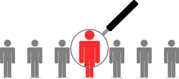 Employee Search. Human resources Search new people Stock Images