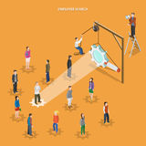 Employee search flat isometric vector concept. Stock Photos