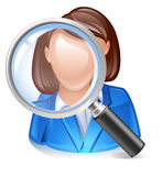 Employee search icon. For headhunting Stock Image
