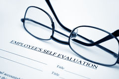 Employee  self evaluation Royalty Free Stock Images