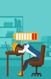 Employee sleeping at workplace. Royalty Free Stock Photography