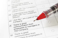 Employee survey Royalty Free Stock Image