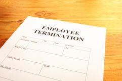 Employee termination Royalty Free Stock Image