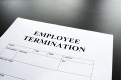 Employee termination Stock Photos