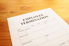 Employee termination Stock Photography