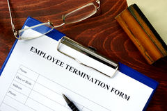 Employee termination form Royalty Free Stock Photo