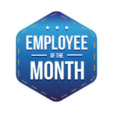 Employee of theMonth vector badge. Blue Stock Photo