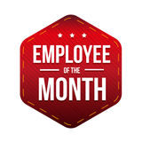 Employee of theMonth vector badge Royalty Free Stock Images