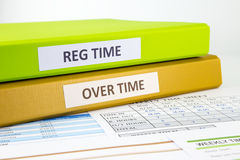 Employee time sheets Royalty Free Stock Photography