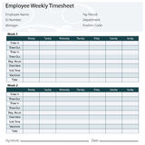 Employee Timesheet Template Stock Photo