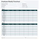 Employee Timesheet Template Stock Photo