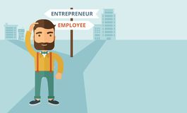 Employee to entrepreneur Stock Photo