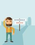 Employee to entrepreneur stock illustration