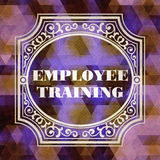 Employee Training Concept. Vintage design. Stock Photography