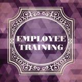 Employee Training Concept. Vintage design. Stock Photography