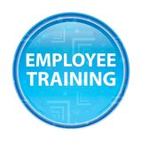 Employee Training floral blue round button vector illustration