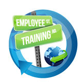 Employee training road sign illustration design Royalty Free Stock Photos
