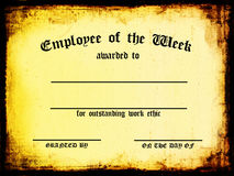 Employee of the Week. Customizable / Blank Certificate - Employee of the Week vector illustration