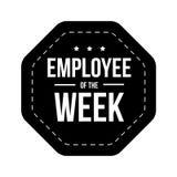 Employee of the Week vector badge. Black Royalty Free Stock Photos