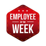 Employee of the Week vector badge Royalty Free Stock Photography