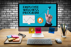 Employee Wellness program and Managing Employee Health , employe. E wellness concept Stock Photo