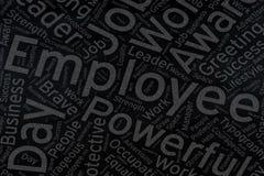 Employee ,Word cloud art on blackboard.  royalty free stock photo