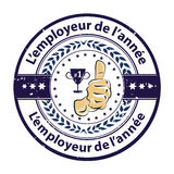 Employee of the year in French Language Royalty Free Stock Image