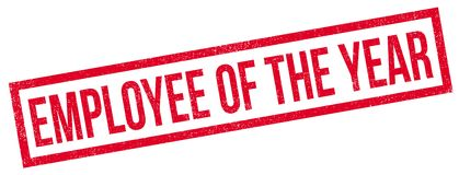 Employee Of The Year rubber stamp Royalty Free Stock Photos