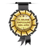 Employee of the Year Spanish language Royalty Free Stock Photos