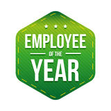 Employee of the Year vector badge Royalty Free Stock Image