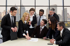 Employees of business company. Stock Image