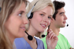 Employees in call center Royalty Free Stock Image