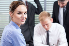 Employees doing their job Stock Photography