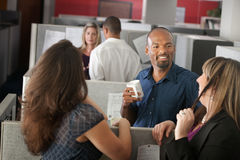 Employees Enjoying Break. Employees enjoying cup of coffee during break stock images