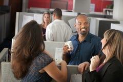 Employees Enjoying Break Stock Images