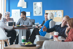 Employees on a lunch break Royalty Free Stock Photo