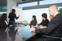 Employees in a motivation seminar Royalty Free Stock Photo