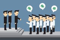 Employees protest money Stock Image