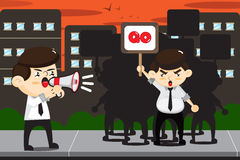 Employees protests CARTOON Royalty Free Stock Photo