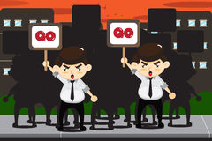 Employees protests Stock Image