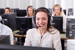 Employees  receiving calls Royalty Free Stock Image