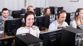 Employees receiving calls Stock Photos