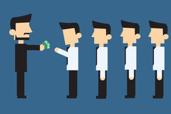 Employees receiving monthly salary Stock Photography
