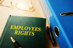 Employees Rights. Employees Rights on an office table royalty free stock photo