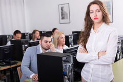 Employees of sales department Royalty Free Stock Image