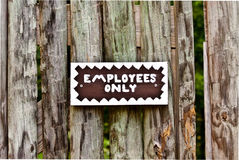 Employees Only Sign Stock Image