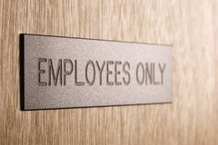 Employees only sign. Royalty Free Stock Image