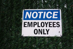 Employees Only Royalty Free Stock Photo