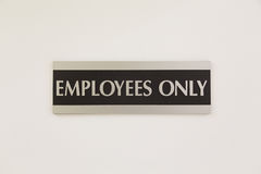 Employees Only Stock Photo